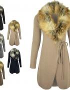 Πλεκτή ζακέτα-παλτό