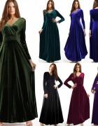 Mάξι βελούδο φόρεμα