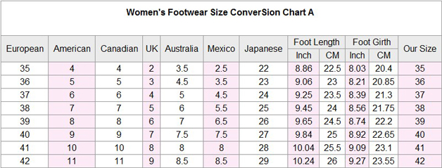 Us Men Shoe Sizes To Uk